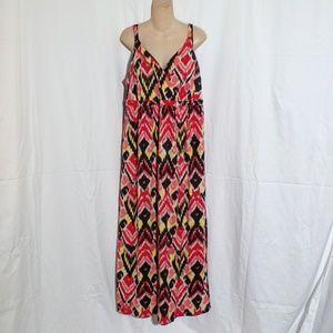 Fashion Bug Print Maxi Dress Size XL-1X (Pls Read)